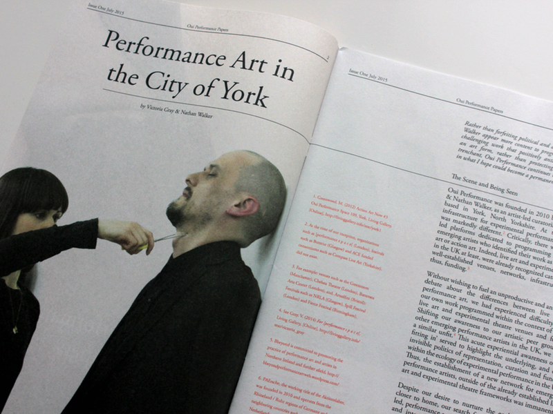 Oui Performance Papers Issue 1